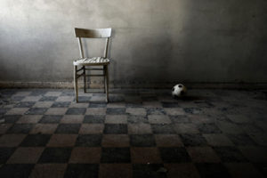 chair and ball in sadness